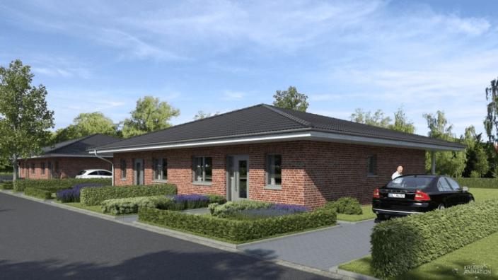Erste Plaungsideen: So könnten die Häuser am Lohkamp aussehen. (C) Krüger Animation/Semmelhack